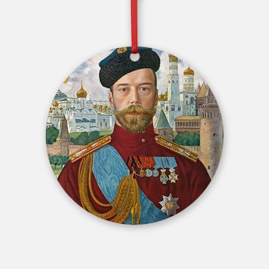 Tsar Nicholas II Ornament (Round)