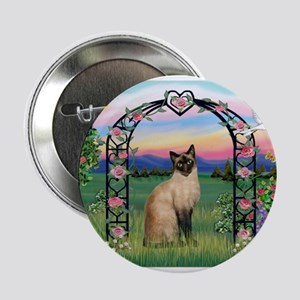 "Rose Arbor / Siamese 2.25"" Button"