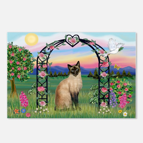 Rose Arbor / Siamese Postcards (Package of 8)