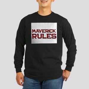 maverick rules Long Sleeve Dark T-Shirt