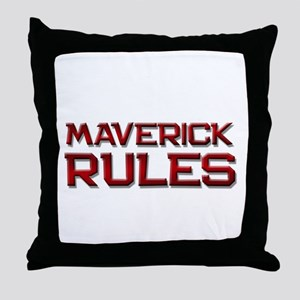 maverick rules Throw Pillow