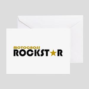 Motocross Rockstar 2 Greeting Cards (Pk of 10)