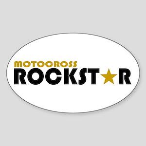 Motocross Rockstar 2 Oval Sticker