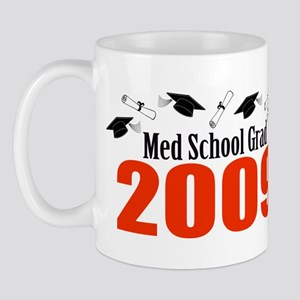 Med School Grad 2009 (Red Caps And Diplomas) Mug