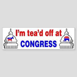 I'm Tea'd Off Bumper Sticker