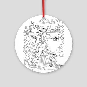 Crazy Cat Lady - Steampunk Ornament (Round)