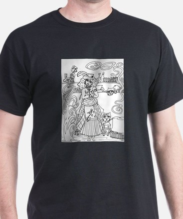 Crazy Cat Lady - Steampunk T-Shirt