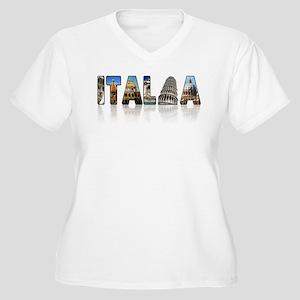 Italian pride Women's Plus Size V-Neck T-Shirt