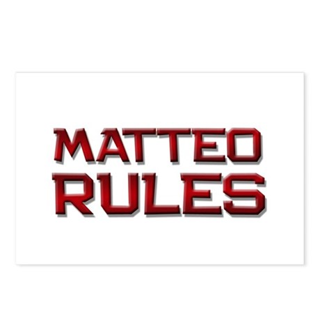 matteo rules Postcards (Package of 8)