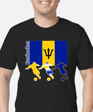 Barbados Soccer Men's Fitted T-Shirt (dark)