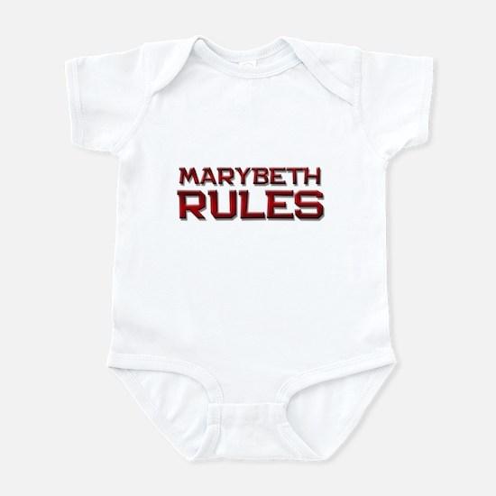 marybeth rules Infant Bodysuit