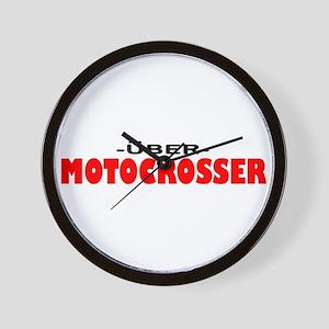 Uber Motocrosser Wall Clock