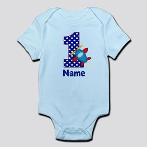 1st Birthday Airplane Personalized Body Suit