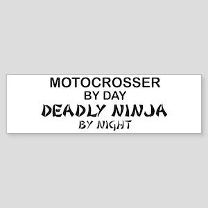 Motocrosser Deadly Ninja Bumper Sticker