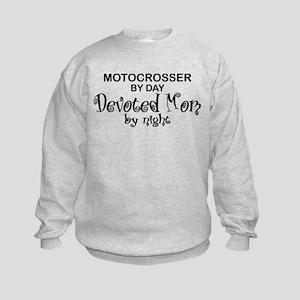 Motocrosser Devoted Mom Kids Sweatshirt