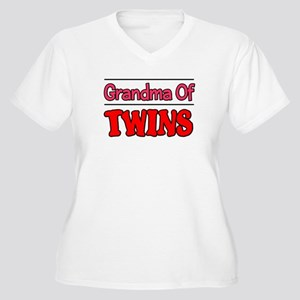 Grandma Of Twins Women's Plus Size V-Neck T-Shirt