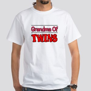 Grandma Of Twins White T-Shirt