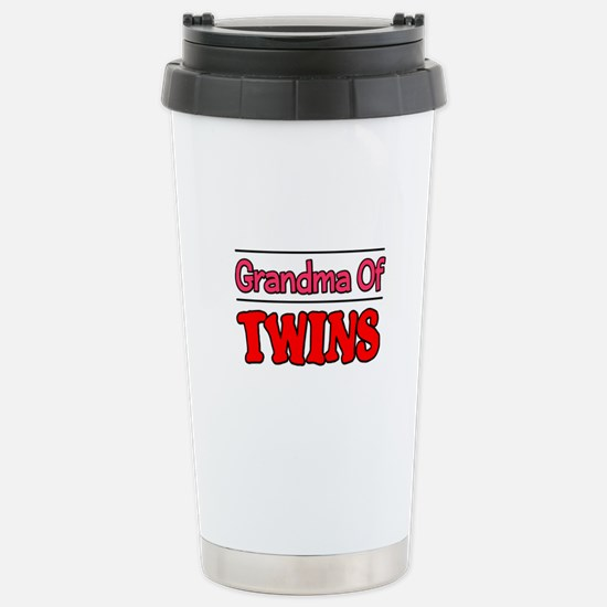 Grandma Of Twins Stainless Steel Travel Mug