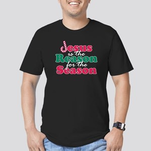 About Jesus Cane Men's Fitted T-Shirt (dark)