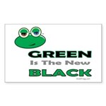 Green Is The New Black Bumper Rectangle Sticker