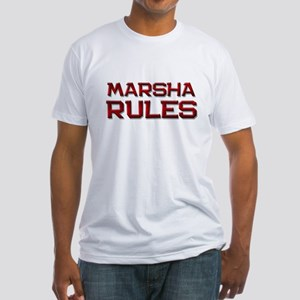 marsha rules Fitted T-Shirt
