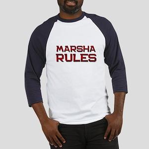 marsha rules Baseball Jersey