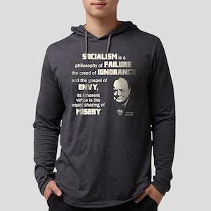 Churchill Socialism Quote Long Sleeve T-Shirt