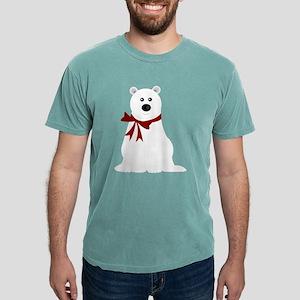 Cute Polar Bear with Red Bow Women's Dark T-Shirt