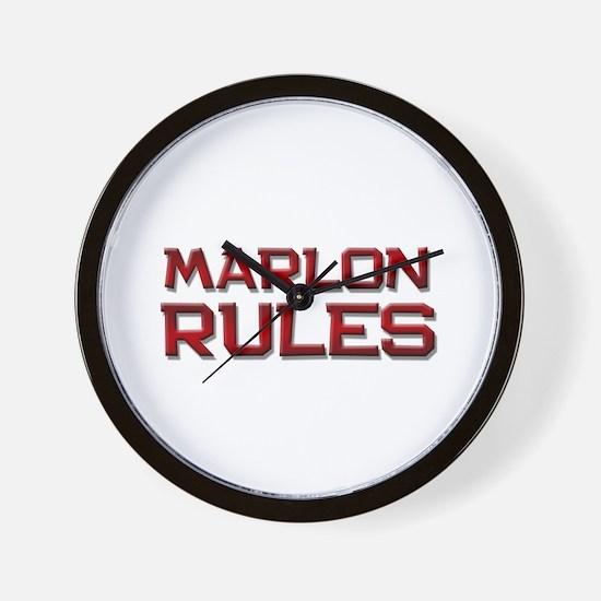 marlon rules Wall Clock