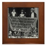 No Self-Respecting Woman . .Alice Paul framed Tile