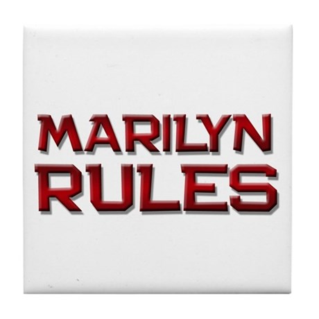 marilyn rules Tile Coaster