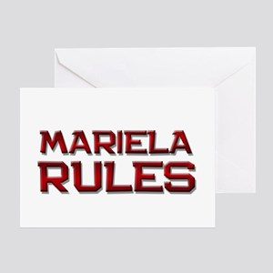 mariela rules Greeting Card