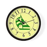 Green Sailboat Large Numbers Wall Clock