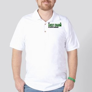 Office Manager lucky charm Golf Shirt