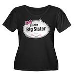 Big Sister Women's Plus Size Scoop Neck Dark T-Shi