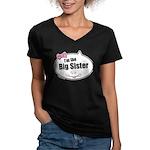 Big Sister Women's V-Neck Dark T-Shirt