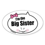 Big Sister Oval Sticker (10 pk)