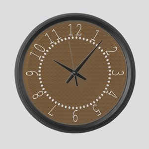 Textured Brown Look Large Wall Clock
