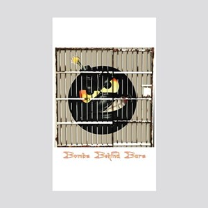 B^3 (Bombs Behind Bars) Rectangle Sticker 10 pk)