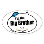 Big Brother Oval Sticker (10 pk)