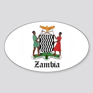Zambian Coat of Arms Seal Oval Sticker