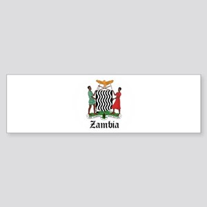 Zambian Coat of Arms Seal Bumper Sticker