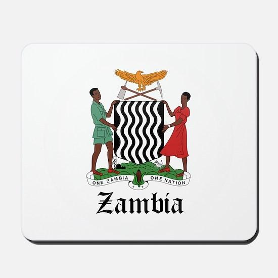 Zambian Coat of Arms Seal Mousepad