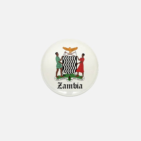 Zambian Coat of Arms Seal Mini Button
