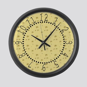 Light Yellow Cheese Large Wall Clock