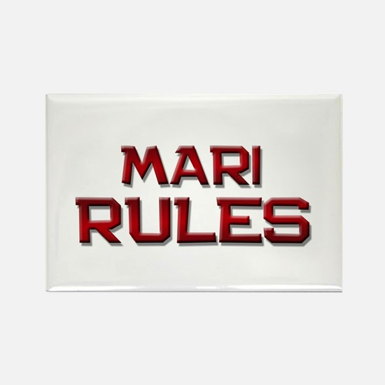 mari rules Rectangle Magnet