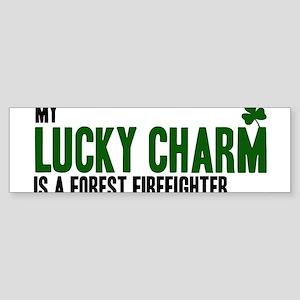 Forest Firefighter lucky char Bumper Sticker