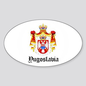Yugoslavian Coat of Arms Seal Oval Sticker