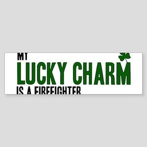 Firefighter lucky charm Bumper Sticker