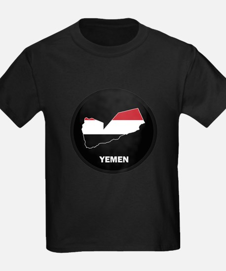 Flag Map of yemen T